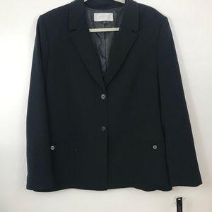 Tahari Black Blazer 16 2-Button